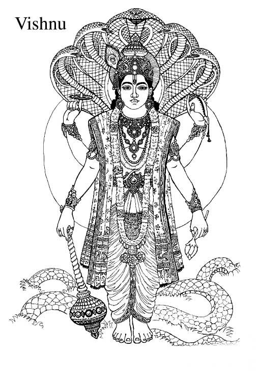 lord vishnu coloring pages - photo#1
